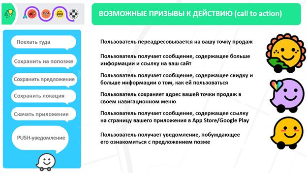 реклама внутри приложения Waze